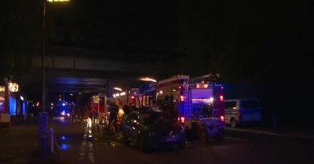 Trzy osoby zostały ranne w pożarze pociągu z kibicami w centrum Berlina
